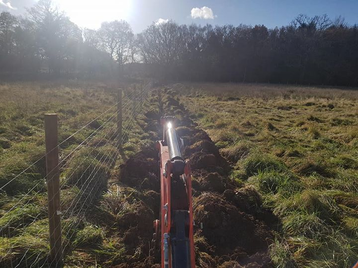 Creating a new hard standing and laying new water pipes for New water pipes